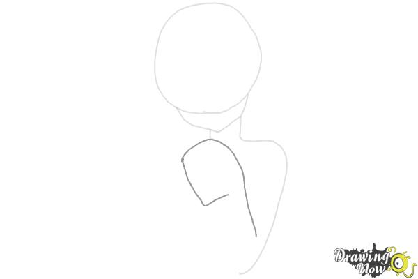 How to Draw Cute Anime Girl - Step 3