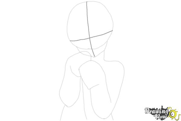 How to Draw Cute Anime Girl - Step 7