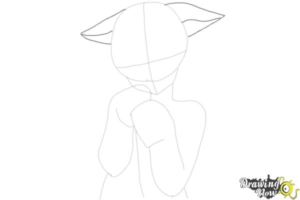 How to Draw Cute Anime Girl - Step 8