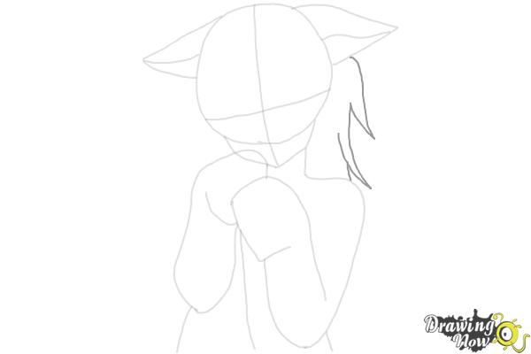 How to Draw Cute Anime Girl - Step 9