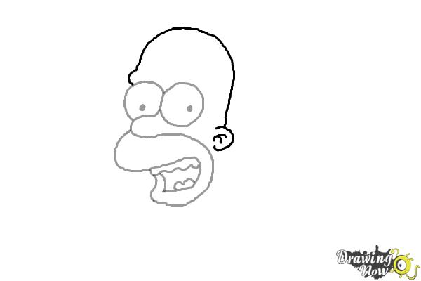 how to draw the simpsons homer