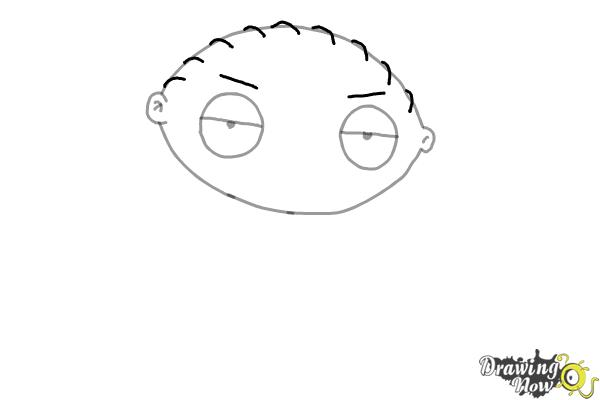 How to Draw Stewie Griffin - Step 4