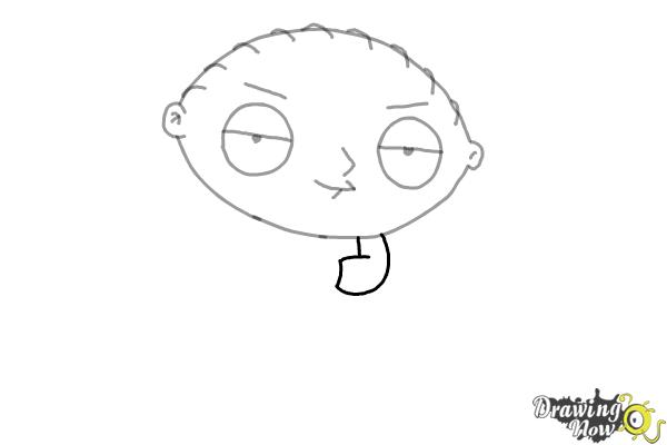 How to Draw Stewie Griffin - Step 6