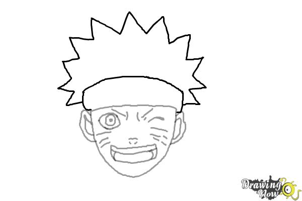 How to draw naruto step 6