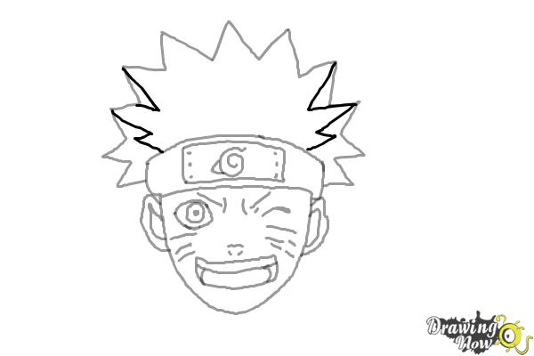 How to Draw Naruto - Step 8