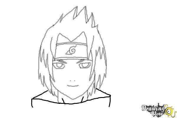 How To Draw Sasuke Uchiha Drawingnow