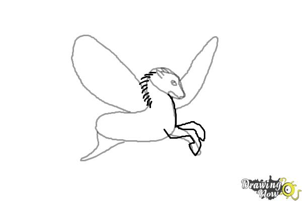 How to Draw a Pegasus - Step 5