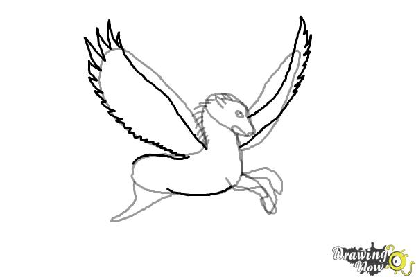 How to Draw a Pegasus - Step 6