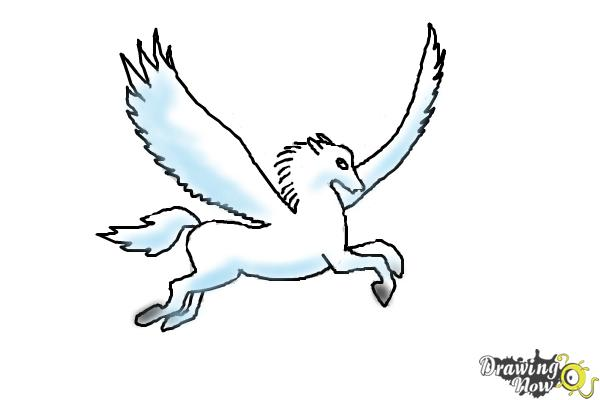 How to Draw a Pegasus - Step 9