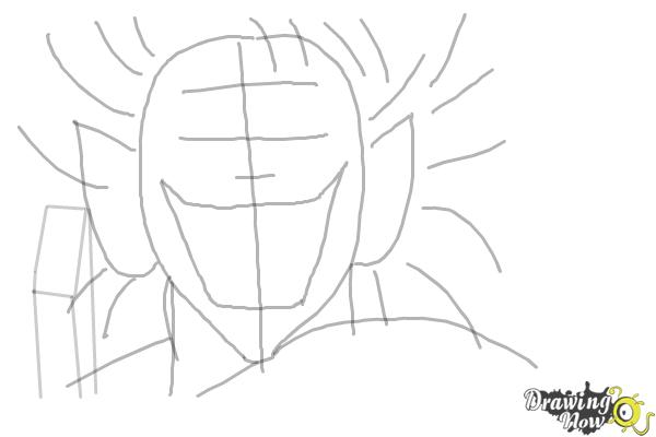 How to Draw an Evil Anime Character - Step 6
