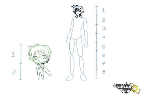 How to Draw Anime Body Figures - Step 11