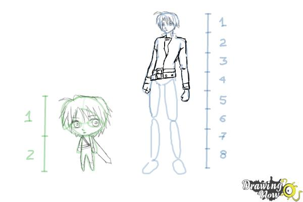 How to Draw Anime Body Figures - Step 12
