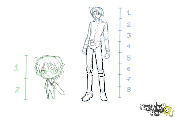 How to Draw Anime Body Figures - Step 13