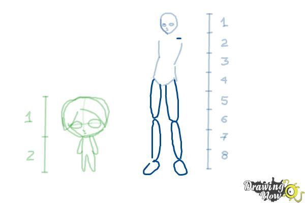 How to Draw Anime Body Figures - Step 6
