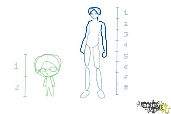 How to Draw Anime Body Figures - Step 7