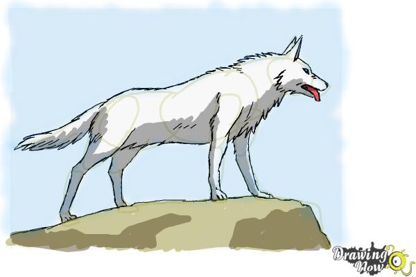 How to Draw an Anime Wolf - Step 10