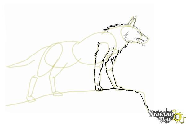 How to Draw an Anime Wolf - Step 7