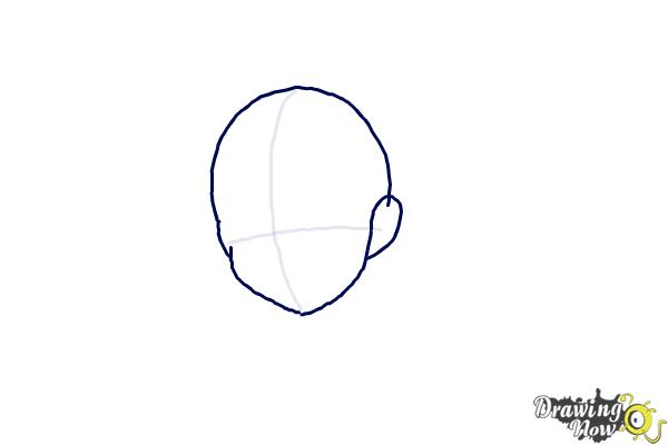 How to Draw Anime Hair - Step 2