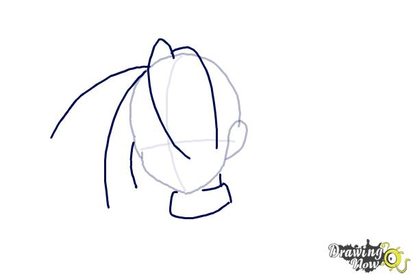 How to Draw Anime Hair - Step 3