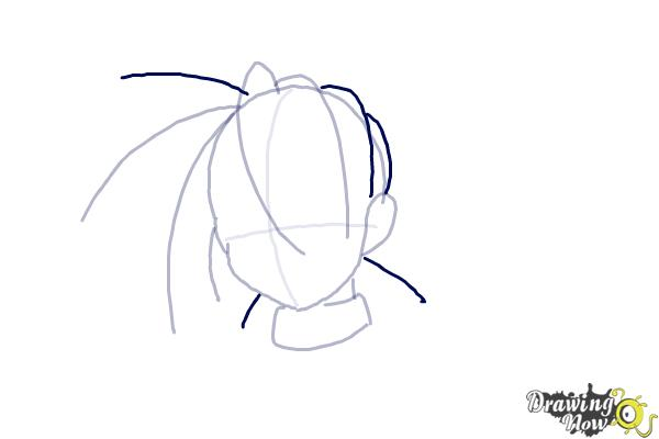 How to Draw Anime Hair - Step 4