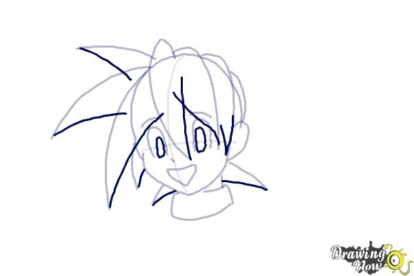 How to Draw Anime Hair - Step 6