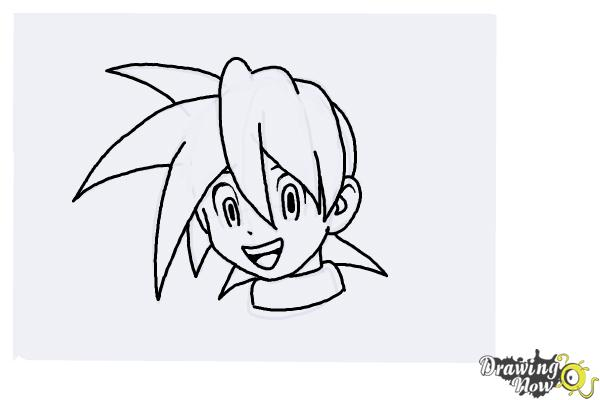 How to Draw Anime Hair - Step 7