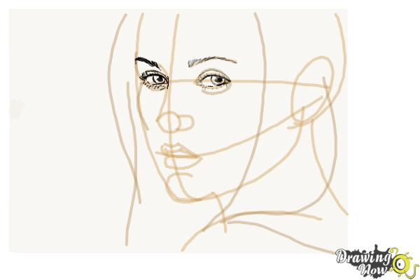 How to Draw Bella Swan from Twilight - Step 5