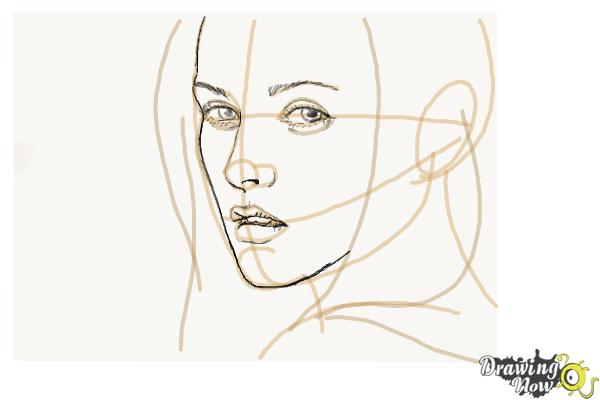 How to Draw Bella Swan from Twilight - Step 6