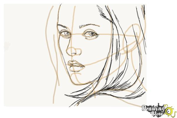 How to Draw Bella Swan from Twilight - Step 7