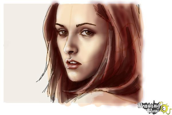 How to Draw Bella Swan from Twilight - Step 9