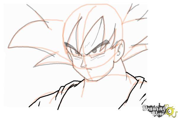 How to Draw Goku - Dragonball Z - Step 10