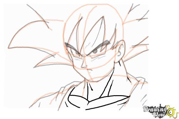 How To Draw Goku Dragonball Z Drawingnow