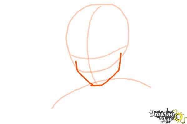 How to Draw Goku - Dragonball Z - Step 2