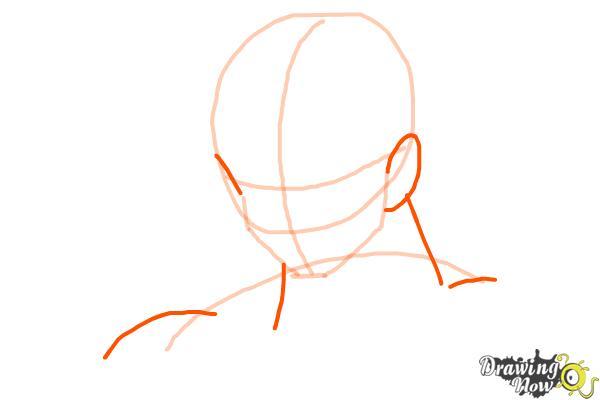 How to Draw Goku - Dragonball Z - Step 3