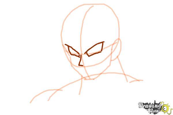 How to Draw Goku - Dragonball Z - Step 4