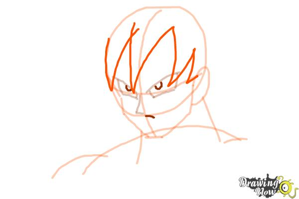 How to Draw Goku - Dragonball Z - Step 5