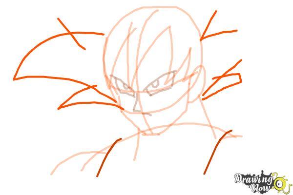 How to Draw Goku - Dragonball Z - Step 6