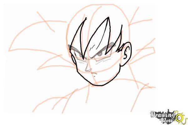 How to Draw Goku - Dragonball Z - Step 8