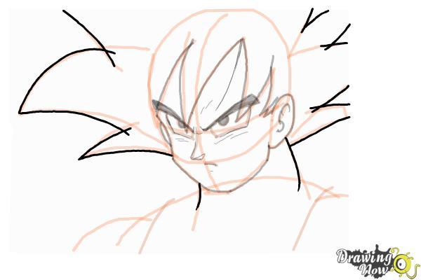 How to Draw Goku - Dragonball Z - Step 9