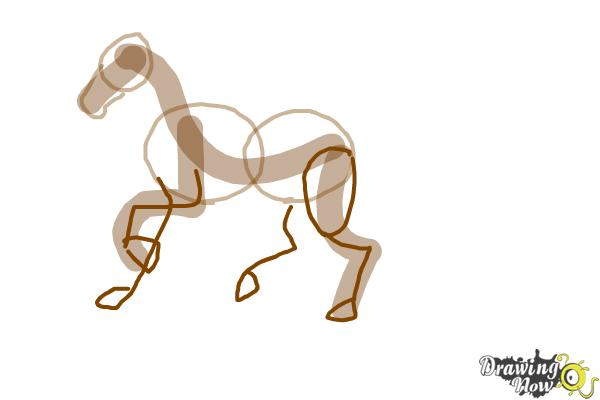 How to Draw a Horse Step by Step - Step 4