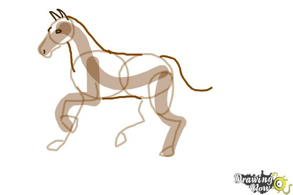How to Draw a Horse Step by Step - Step 5