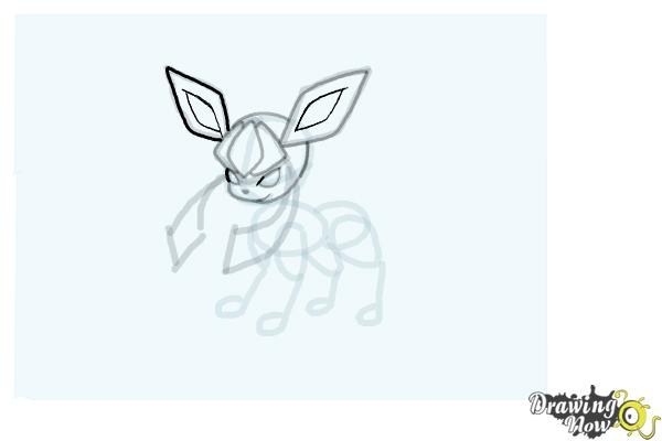 How to Draw Glaceon from Pokemon - Step 10