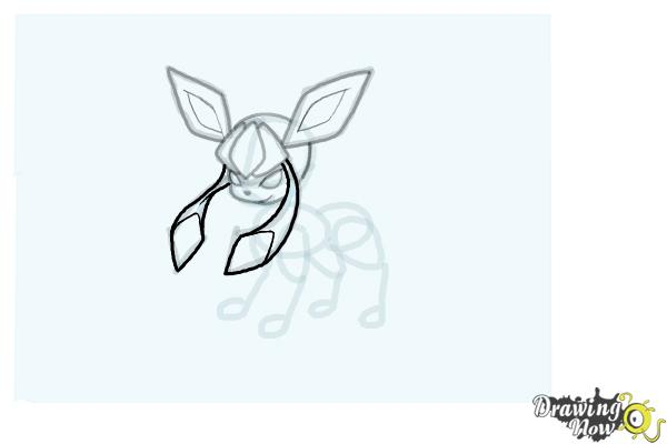 How to Draw Glaceon from Pokemon - Step 11