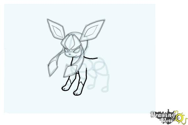 How to Draw Glaceon from Pokemon - Step 12