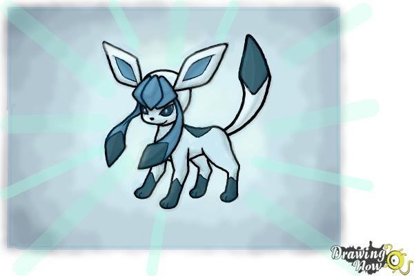 How to Draw Glaceon from Pokemon - Step 15