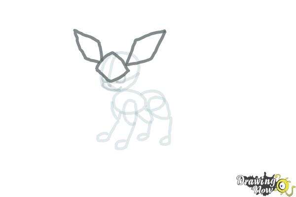 How to Draw Glaceon from Pokemon - Step 6