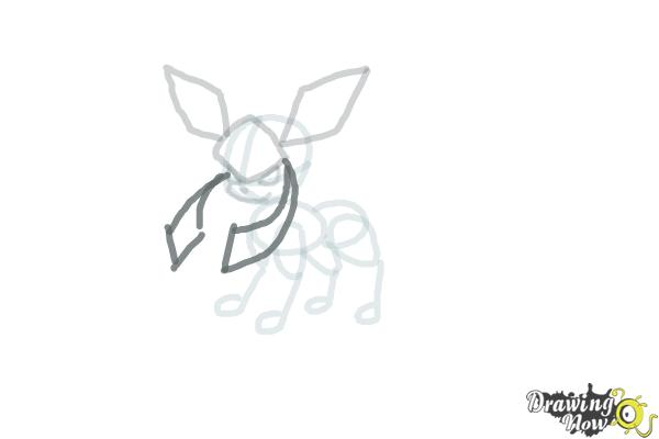 How to Draw Glaceon from Pokemon - Step 7
