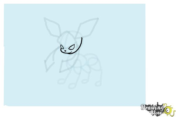 How to Draw Glaceon from Pokemon - Step 8