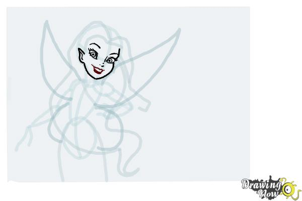 How to Draw Silvermist from Tinkerbell - Step 7