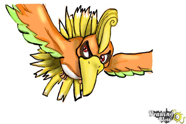 How to Draw Ho-Oh from Pokemon - Step 10